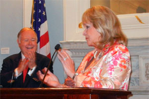 OU President David Boren and OK Gov. Mary Fallin