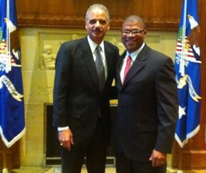 U.S. Attorney Danny Williams with U.S. Attorney General Eric Holder