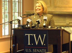 Majority Floor Leader, Pam Peterson, of Tulsa introduced T.W. Shannon