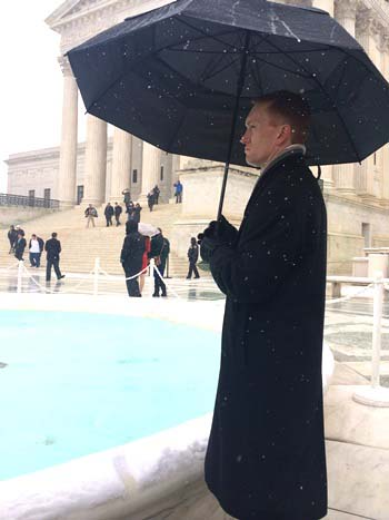 Rep. James Lankford outside the US Supreme Court