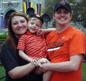 Robbie Squires with family during a recent Disney vacation.  (Facebook)