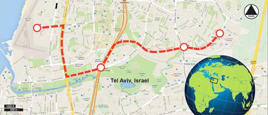 SkyTran Tel Aviv Route
