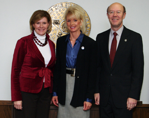 Oklahoma Corporation Commissioners Patrice Douglas, Dana Murphy, and Bob Anthony