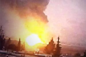Alleged IDF bombing of targets in Syria. (photo credit:ARAB SOCIAL MEDIA-JP)