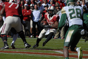 OU running back Samaje Perine rushes against Baylor on November 8 in Norman