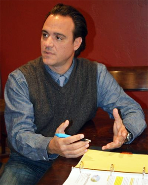 "Dr. Steven Anagnost during his ""Red Dirt Report"" interview. Photo by Sarah Hussain/Red Dirt Report"