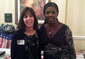 Joanne Tryee, Vice Chair, shown here with Star Parker