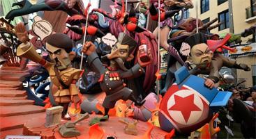 More satirical effigies in Valencia, Spain 2015