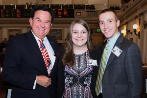 Rep. Mike Ritze with Kristen Hopkins and Peter Anthony