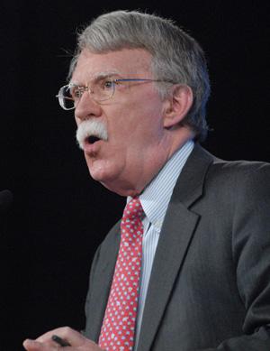 John Bolton speaking at SRLC.  Photo: Greg Duke, Tulsa Today