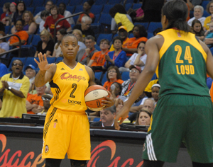 Riquna Williams put in 11 points against Seattle. Photo Greg Duke Tulsa Today