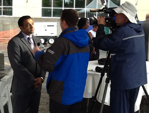 Pete Patel during interview at the Hampton Inn ground breaking. Photo: David Arnett