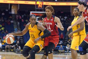 Karima Christmas scored 15 point against the Mystics on Tuesday.
