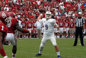 Quarterback Dane Evans and the TU offense scorched the OU defense with 603 total yards Saturday.