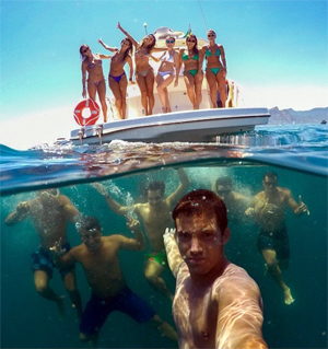 "This ""Best Group Selfie"" noted on Reddit, was later asserted a photoshop."
