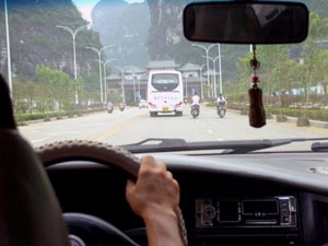 Michael Oberndorf taxi ride in Hong Kong