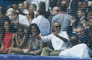 Obama does fan wave with Communist Dictator Raúl Castro