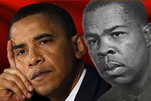 Barack Obama and Frank Marshal David