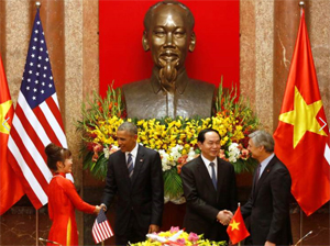 Barack Obama in Vietnam (Photo: Sky News)