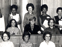 Publisher David Arnett (center) at the 11 Annual Human Relations Workshop, OU, 1970.
