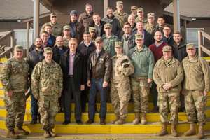 Senator Lankford, Rep. Russell and Rep. Mullin with the Oklahoma National Guard in Kosovo