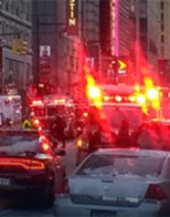 NYC explosion today, bomber plus three hurt