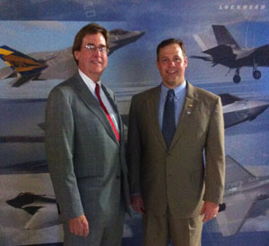 Tulsa Mayor Dewey Bartlett and U.S. Rep. Jim Bridenstine at an F-35 contractor event in Tulsa. Photo by David Arnett, Tulsa Today