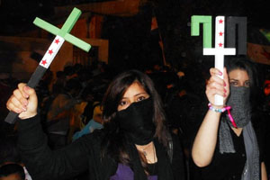 Syrian Christians Protest