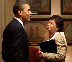 Barack Obama with Valerie Jarrett