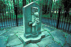 Statue of Benedict Arnold's boot, supposedly commemorating Benedict's wound and heroism at the Battle of Saratoga