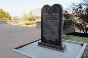 Oklahoma's Ten Commandment Monument