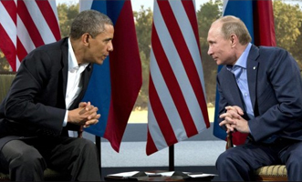 Obama with Russian President Vladimir Putin