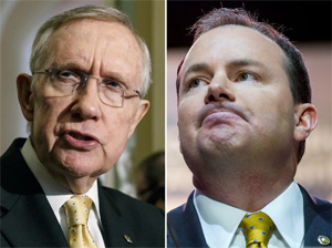 Sen Harry Reid and Sen Mike Lee - from The Washington Times