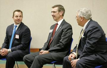 The three candidates often met for debate