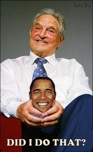 George Soros with what many suggest is his owned talking head