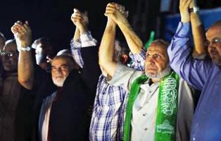 Hamas leadership reappears