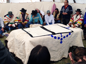 Tribal leaders prior to treaty signing: Photo: Amanda Hardy/WCS