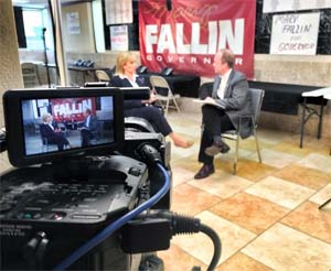 OK Gov. Mary Fallin with David Arnett, Tulsa Today
