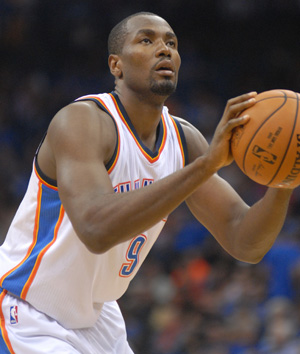 Thunder's Serge Ibaka. Photo: Greg Duke, Tulsa Today