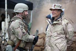 Bradley Cooper and Clint Eastwood on set of American Sniper