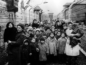 Survivors of Auschwitz. Photo by The Mirror