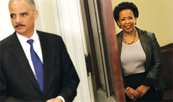 Eric Holder and Loretta Lynch. Photo: The Hill