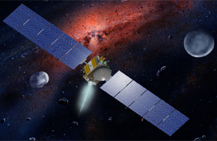 NASA Artist illustration of Dawn Spacecraft