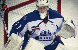 Oilers goaltender Kevin Carr made 39 saves on 40 shots on Friday against Quad City.