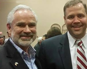 George Wiland, State Committeeman shown with Rep. Jim Bridenstine