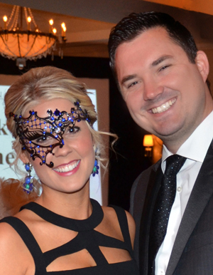 WOS Silent Auction Chair Kristen Campbell and husband, Austin. Photo Provided.