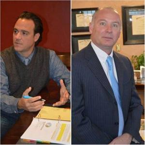 Dr. Steven Anagnost (left) and David Slane
