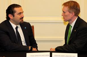 Former Lebanese Prime Minister Saad Hariri and Sen. Lankford. Photo Provided