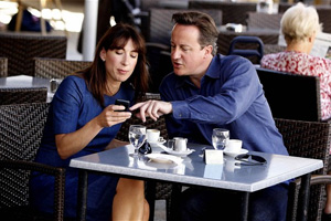 Prime Minister David Cameron and his wife Samantha.  Photo: The Telegraph