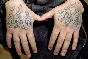 Ryan's Hand Tattoos